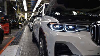 BMW X7 pré-produção, na linha de montagem