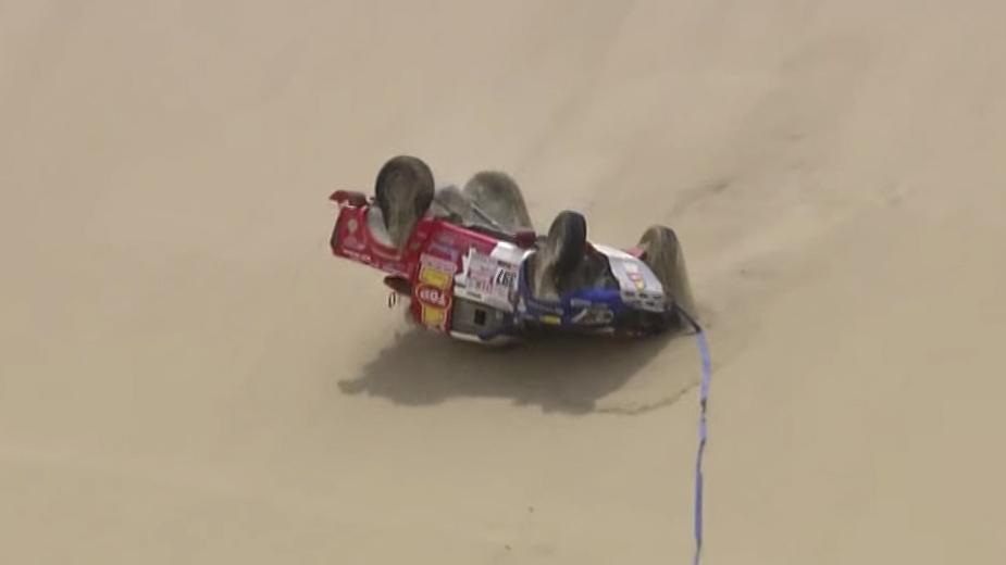 Dakar 2018 —Isuzu D-Max de Roberto Recalde — desatascar que correu mal