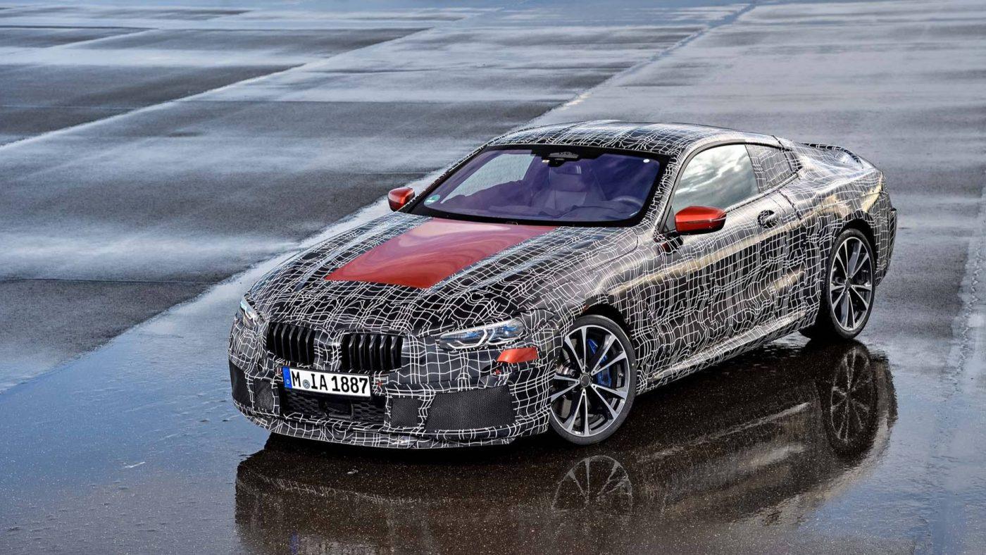 BMW Série 8 camuflado 2018
