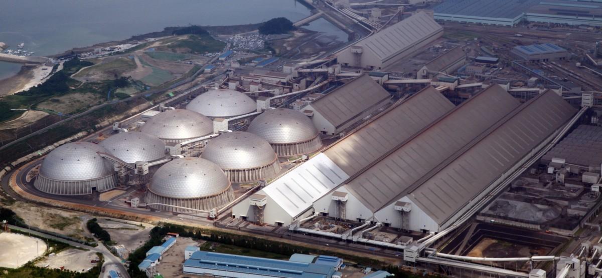 Visão parcial da Dangjin Integrated Steelworks