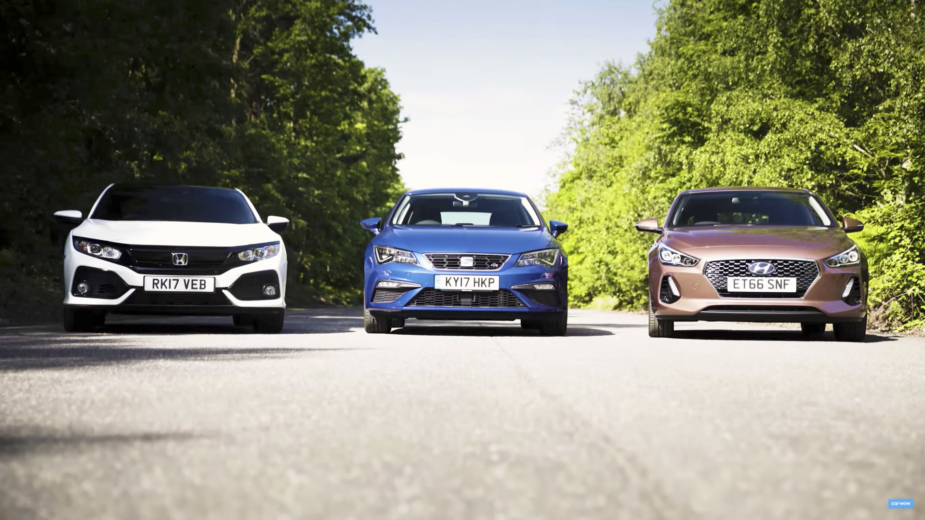 Drag Race — Honda Civic vs SEAT Leon vs Hyundai i30
