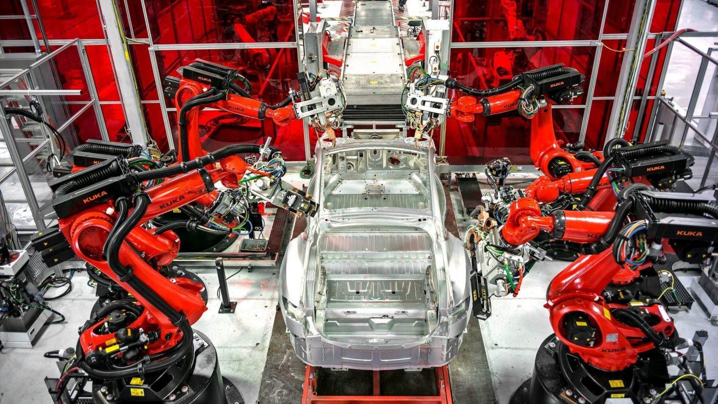 Tesla Model 3 — Linha de produção
