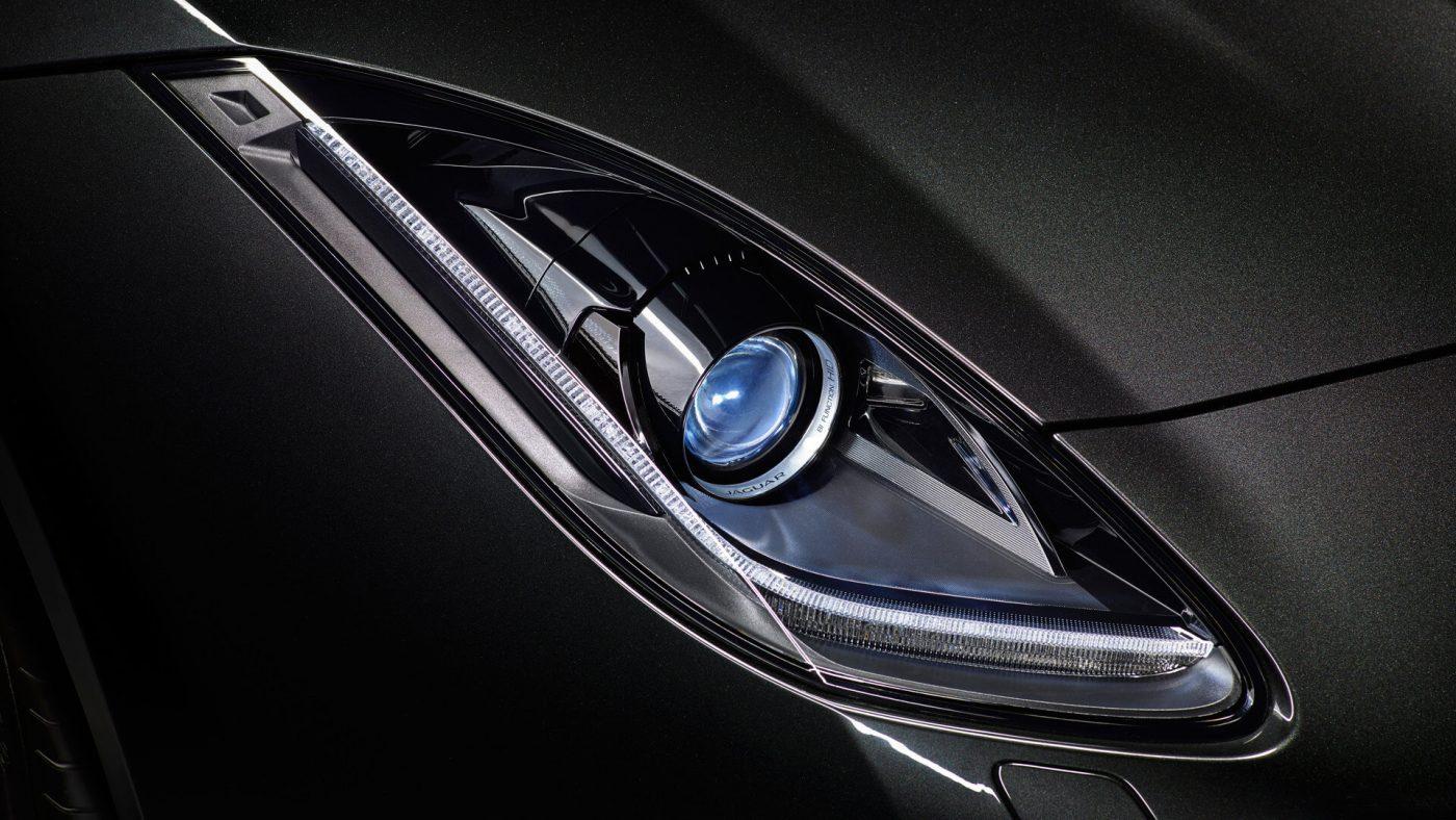 Jaguar F-Type — ótica dianteira