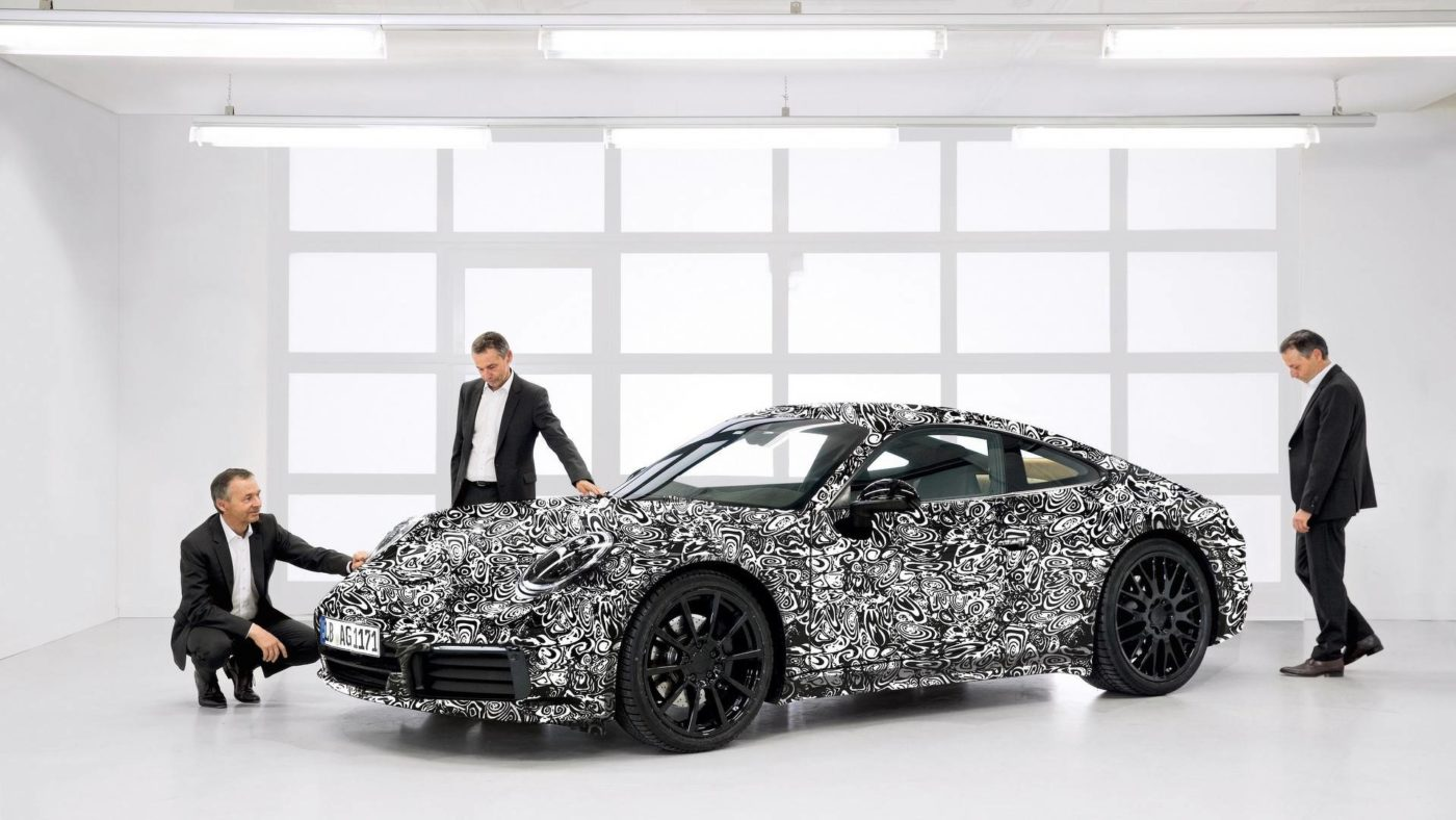 Porsche 992 camuflado oficial 2018