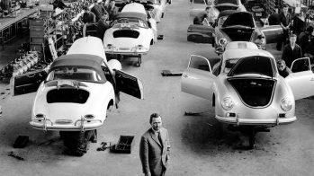 Porsche 356 — linha de produção