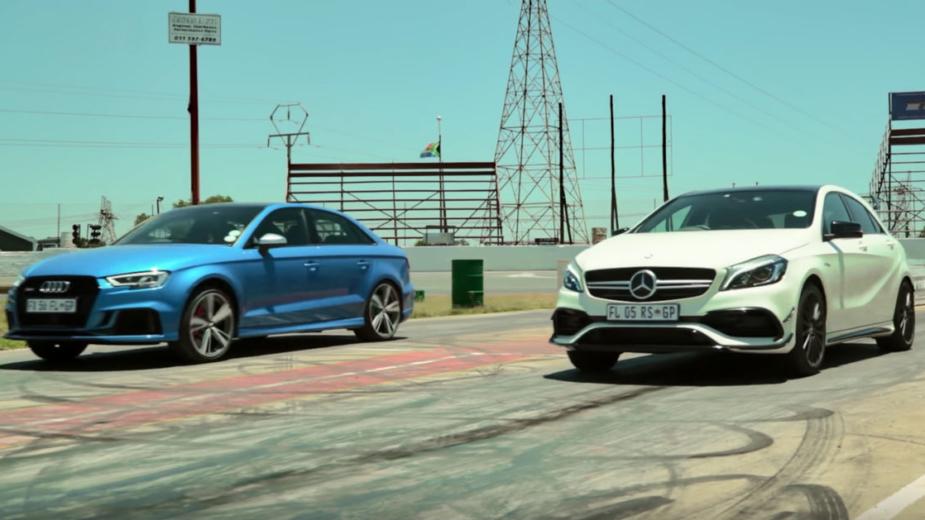 Drift Audi RS3 vs Mercedes-AMG A45
