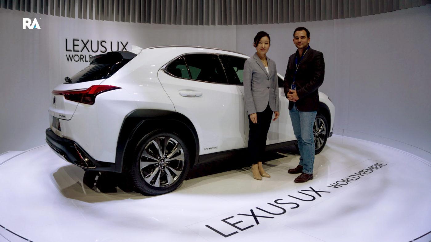 O nosso Guilherme Costa com Chika Kako, diretora de engenharia do Lexus UX