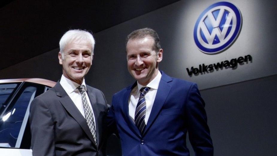 Matthias Mueller HerbertDiess Volkswagen Group 2018