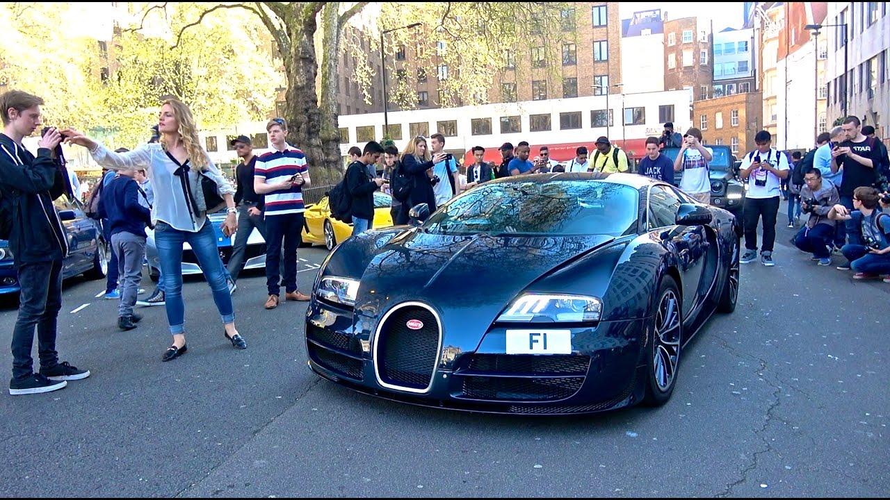 Bugatti Veyron Super Sport com chapa matrícula F1