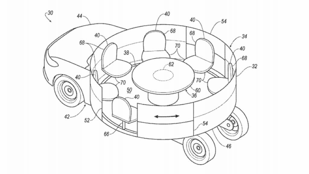 Ford — patente habitáculo circular