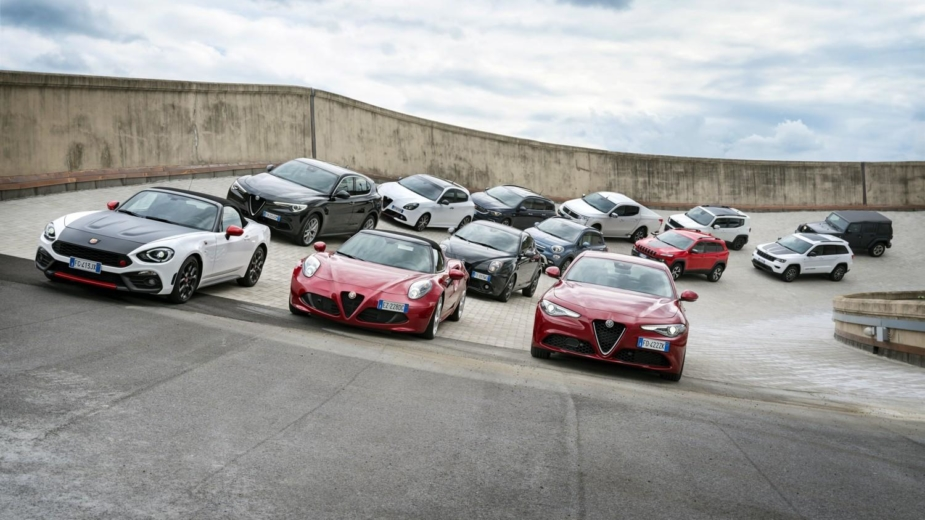 FCA. Foto de família com Alfa Romeo, Fiat e Jeep