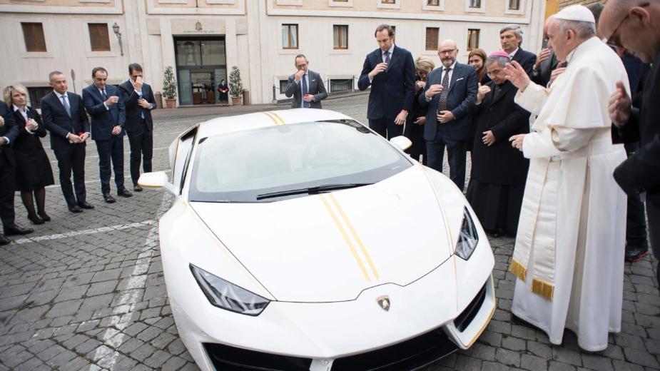 Lamborghini Huracan Papa Francisco 2018