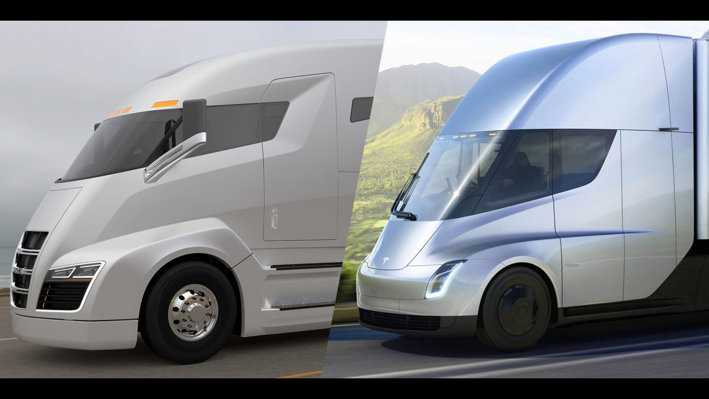 Nikola One vs Tesla Semi