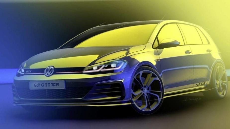 Volkswagen Golf GTI TCR de estrada teaser 2018
