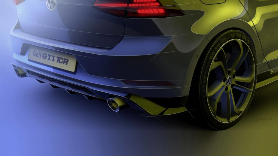 Volkswagen Golf GTI TCR estrada teaser 2018
