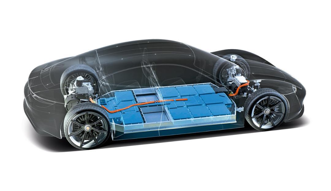 Porsche Taycan baterias 2018