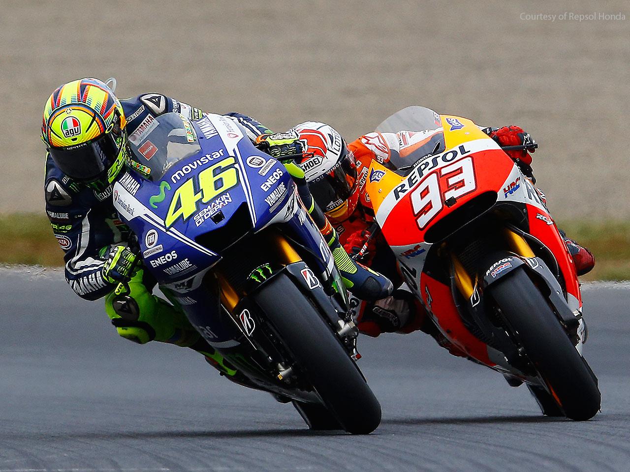 Valentino Rossi e Marquez