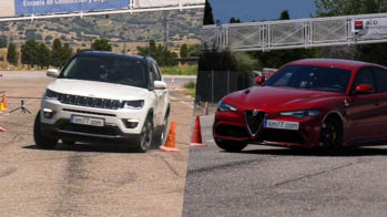 Jeep Compass e Alfa Romeo Giulia Quadrifoglio no teste do alce