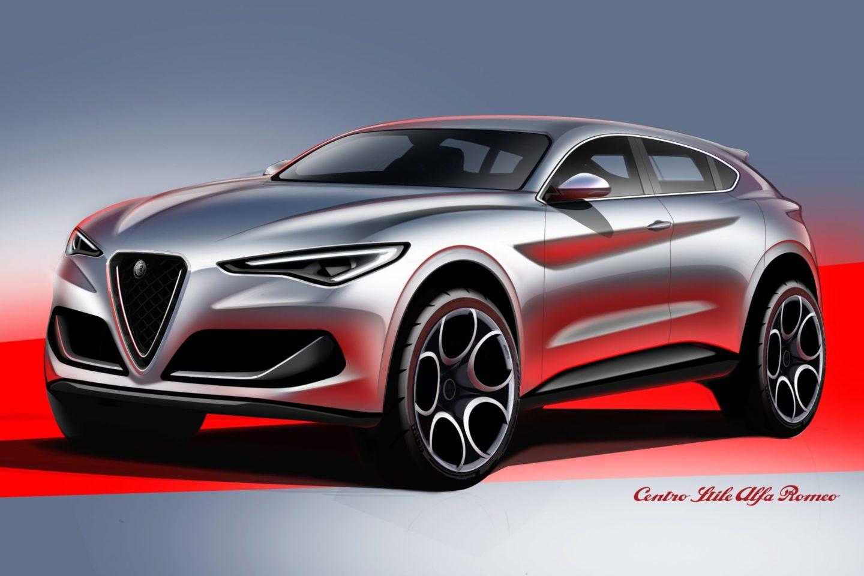 Alfa Romeo Stelvio SUV Concept esboço