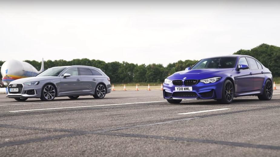 Audi RS4 Avant contra BMW M3 CS
