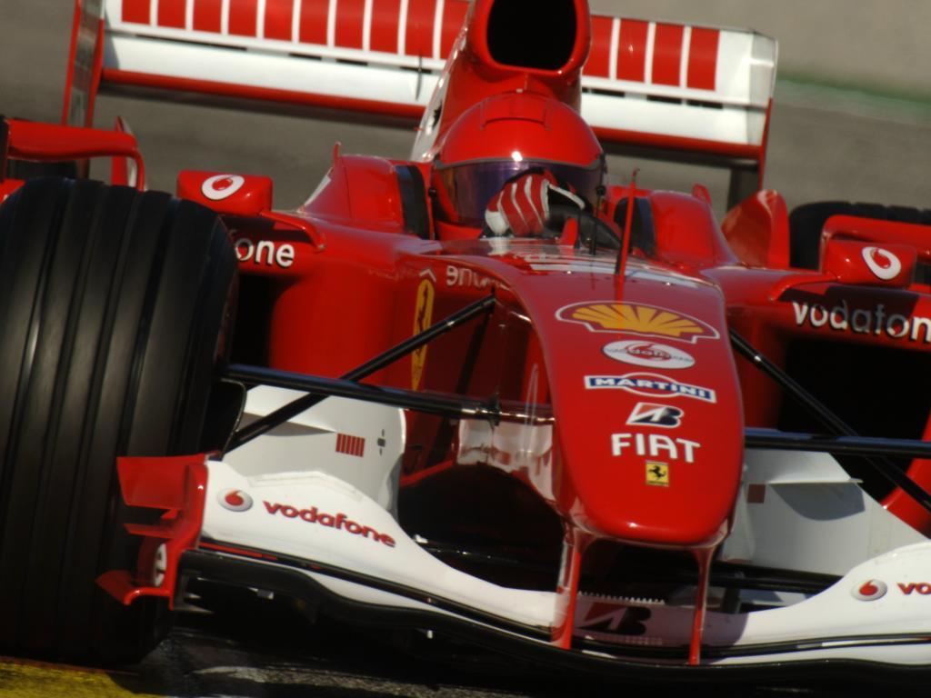 Valentino Rossi, teste na Fórmula 1 com Ferrari