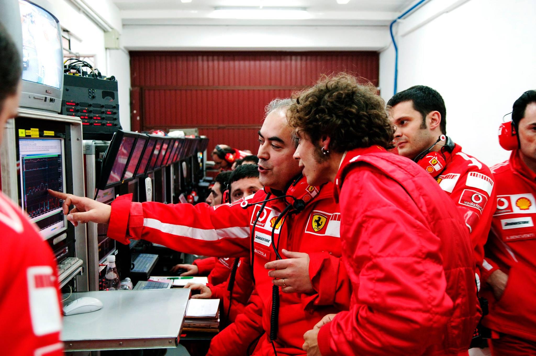 Valentino Rossi com Luigi Mazzola