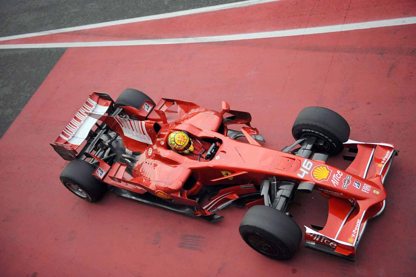 Valentino Rossi, teste na Ferrari