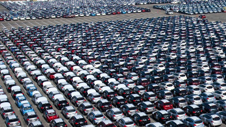 Vendas automóveis em queda