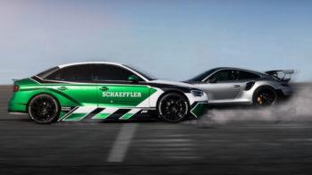 Audi RS3 da Schaeffler 4ePerformance contra Porsche 911 GT2 RS