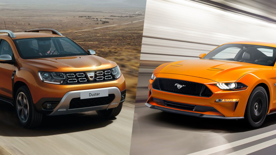 Dacia Duster vs Ford Mustang