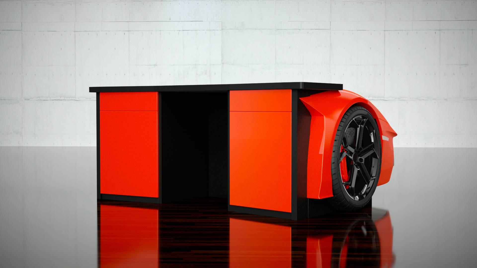 Lamborghini Aventador secretária
