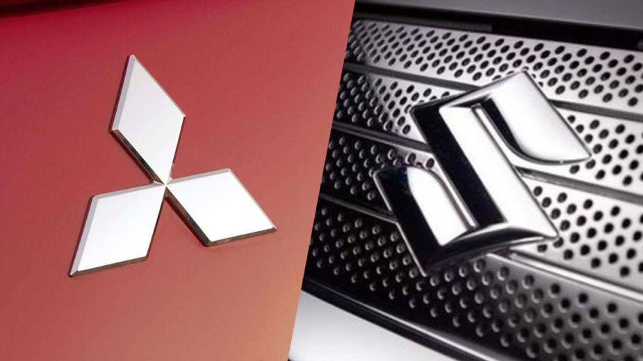 Mitsubishi logo e Suzuki logo