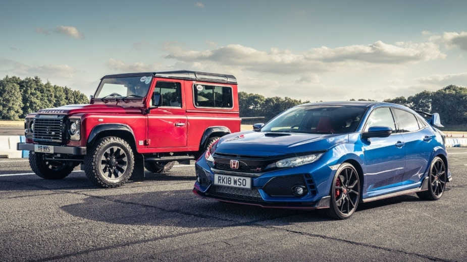 Land Rover Defender Works vs Honda Civic Type R