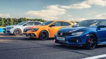 Drag race Honda, Renault, Hyundai