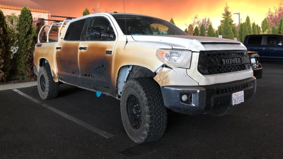 Toyota Tundra incêndios