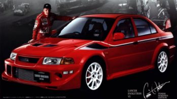 Tommi Makinen com Mitsubishi Evolution VI Tommi Makinen Edition