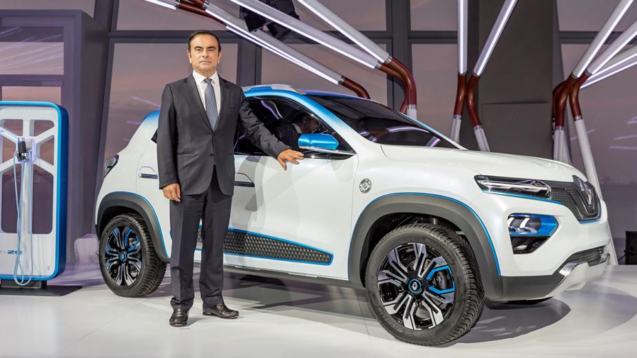 Carlos Ghosn com Renault K-ZE