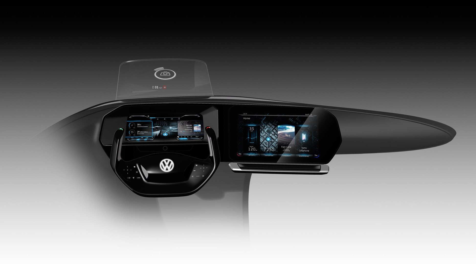 Volkswagen Digital Cockpit CES 2017