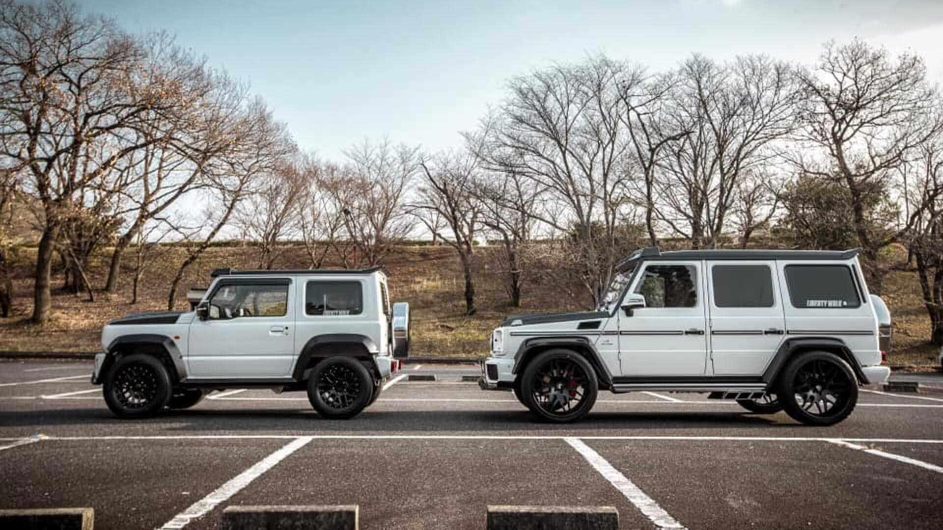 Suzuki Jimny e Mercedes-Benz Classe G Liberty Wall