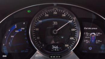 Velocímetro Bugatti Chiron