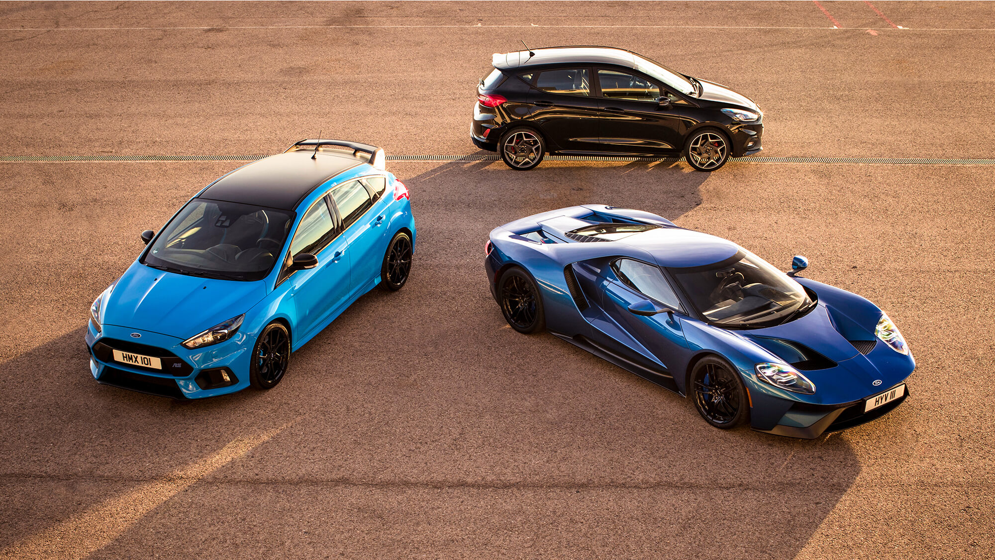 Ford Focus RS, Ford Fiesta ST, Ford GT