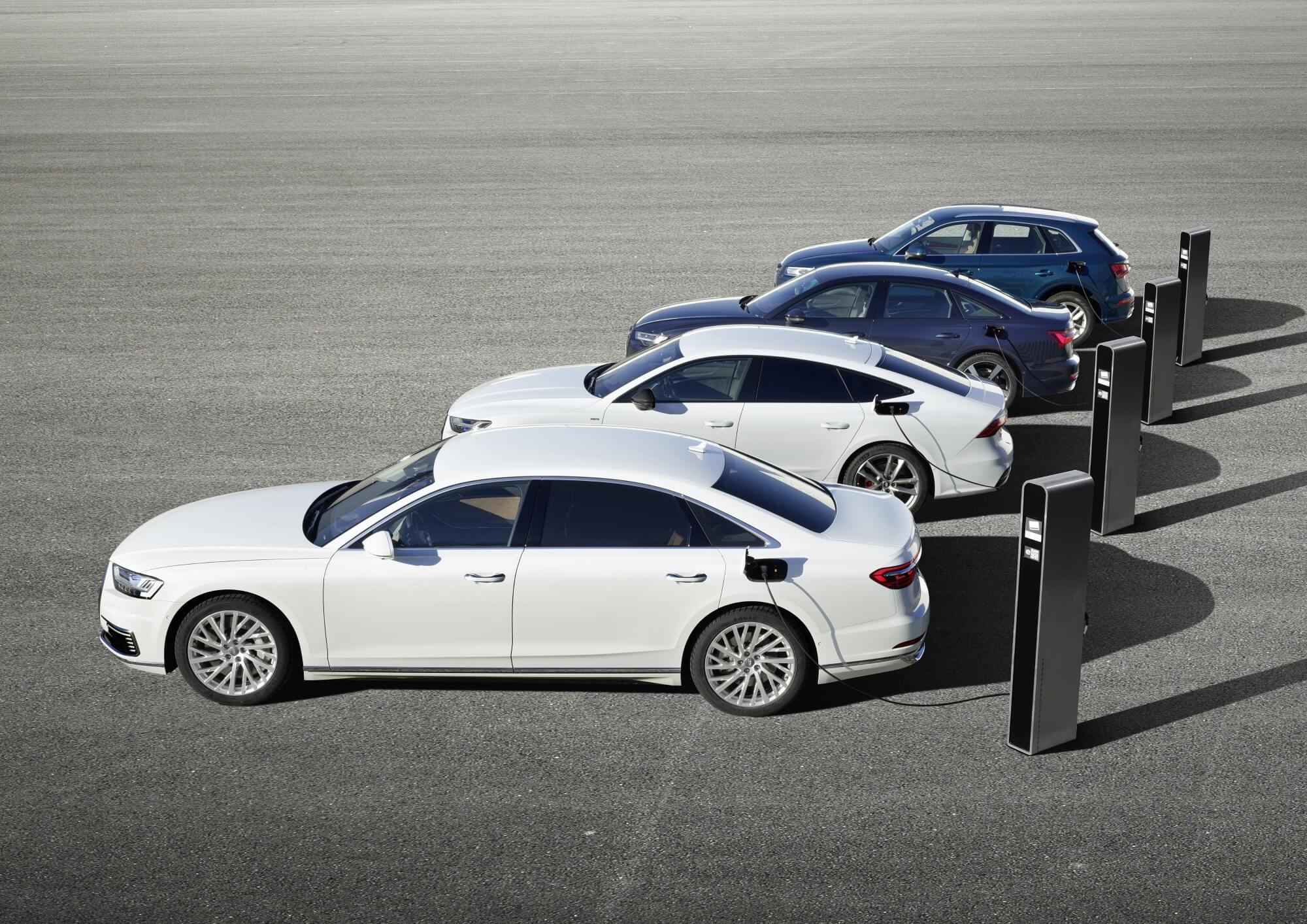 Audi híbridos plug-in
