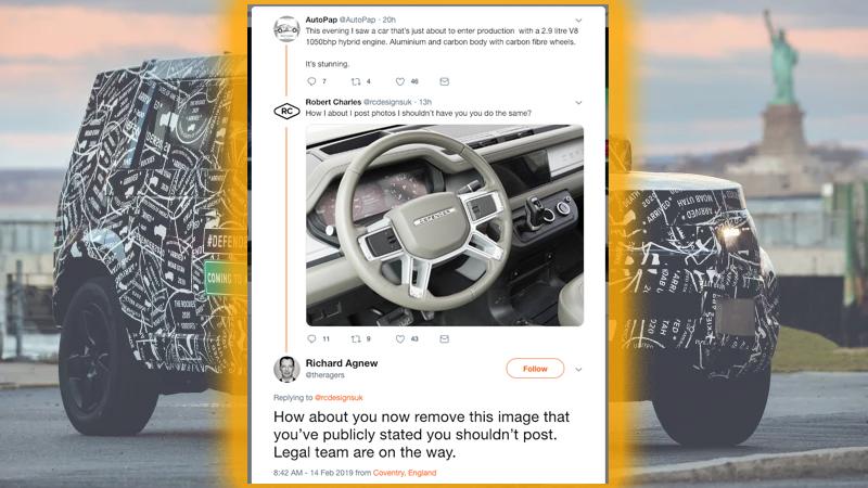 Guerra de tweets Land Rover