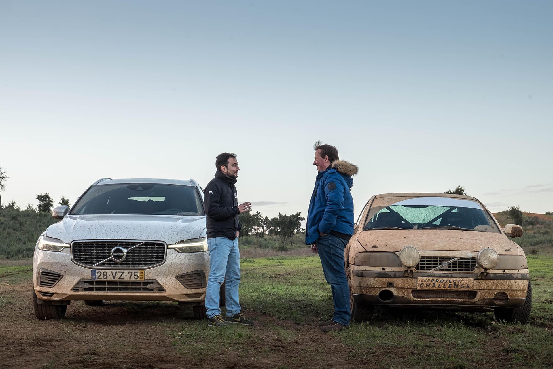 Volvo XC60 e Guilherme Costa com Volvo S60 recce e Manuel Ramoa