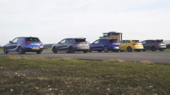 Drag Race Mercedes-AMG A 35, BMW M140i, Audi S3, Volkswagen Golf R, Ford Focus RS