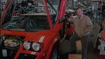 Morley Safer com Lamborghini Countach