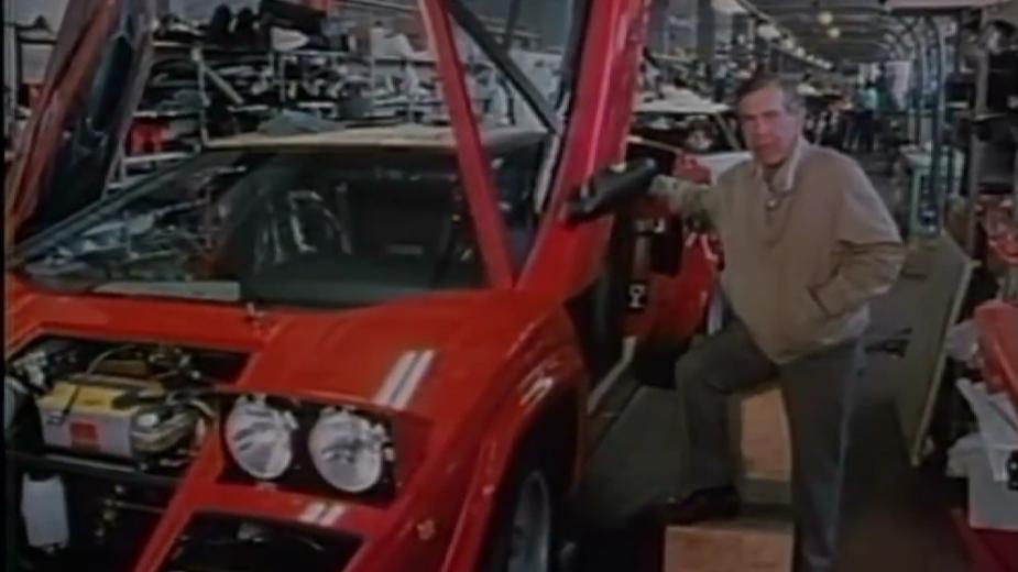 Morley Safer com Lamborghini Countach