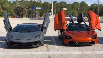 Lamborghini Aventador SVJ vs McLaren 720S