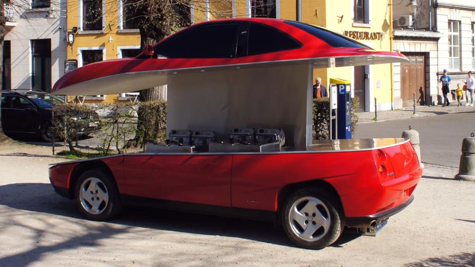 la voiture fiat coupé friterie, benedetto bufalino