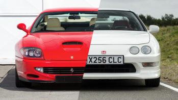 Ferrari 550 Maranello e Honda Integra Type R
